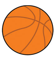 Basketball SportsShape Colorplast Sign