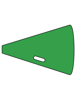 Sign Megaphone SportsShape Colorplast