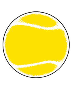 Sign Tennis Ball SportsShape Colorplast