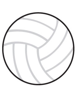 Volleyball Sign SportsShape Colorplast