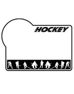 Hockey Sign SportsShape Colorplast