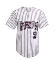 Teamwork Pinstripe 1761B Pro Style 6 Button Front Jersey - Youth