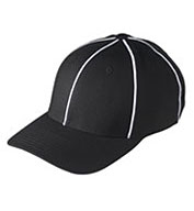 Black w/ white Football Referee Caps - Size Small/Medium