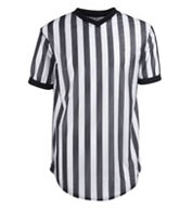 100% Polyester Black and White Basketball Officials Shirts