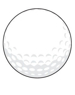 Golf Ball Sign Large SportsShape