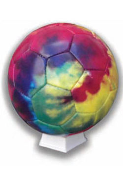 Soccer Balll Tie Dye And Dots