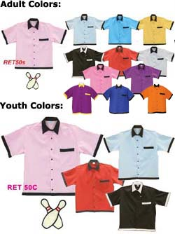 Youth 50s Retro Bowling Shirt