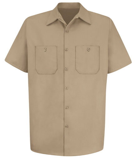 Red Kap Uniform Shirt 100% Cotton Short Sleeve Mens
