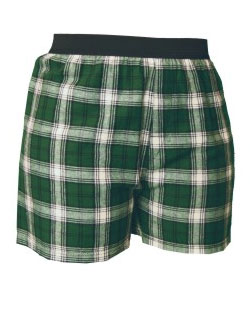 Boxers Exposed Elastic Waistband Flannel Adult
