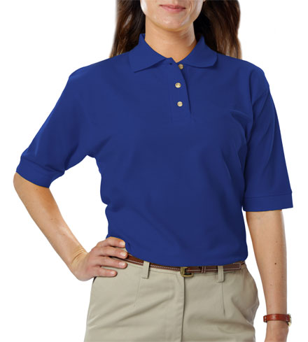 Teflon Treated Pique NO Pocket Polo - Ladies