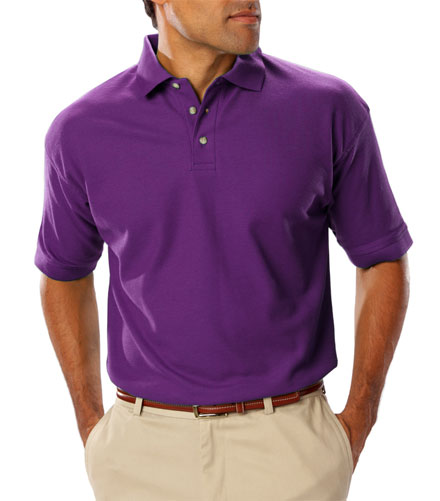 Polo Teflon Treated Pique NO Pocket Mens