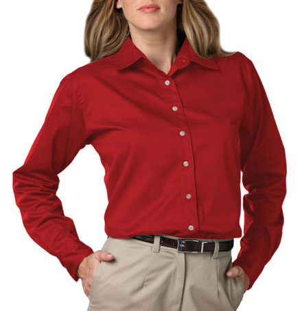 Shirt Long Sleeve Teflon Twill Ladies