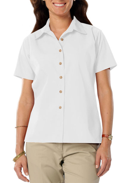 Shirt  Short Sleeve Teflon Twill Ladies