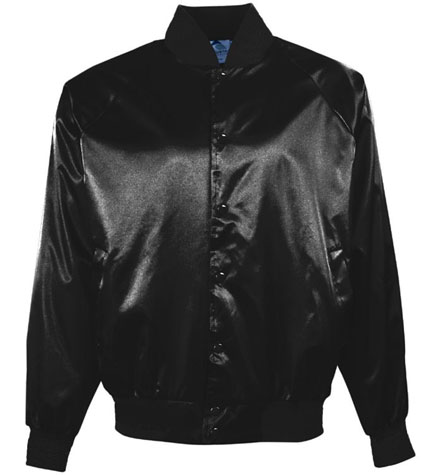 Baseball Jacket Pro-Satin With Solid Trim And Quilt Lining Youth