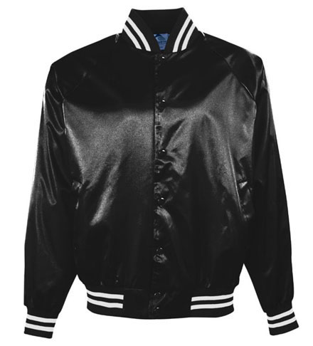 Pro-Satin Youth Jacket - Flannel Lined With Striped Trim