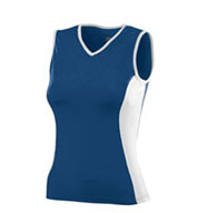 Girls Poly/Spandex Sleeveless Volleyball Jersey