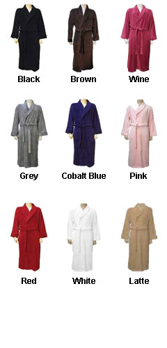Ultra-Soft Plush Spa Robe - All Colors
