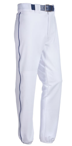 Teamwork 3718 Piped 12 Oz Polyester Baseball Pants - Youth