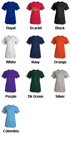 Womens Champion Full Button Jersey - All Colors