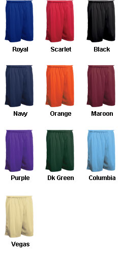 Adult Fadeaway Tricot Basketball Short - 9 inch Inseam - All Colors