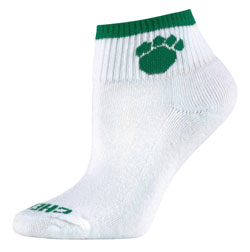Teamwork 5012 Paw Print Style Cheer Socks - Girls