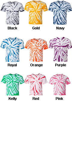 Tie-Dyed Youth Pinwheel T-shirt - All Colors