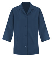 Womens Loose Fit Button Smock - 3/4 Sleeve