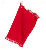 Fringed Fingertip Towel with Grommet