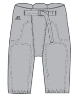 Russell Football Pants Integrated Pad Youth