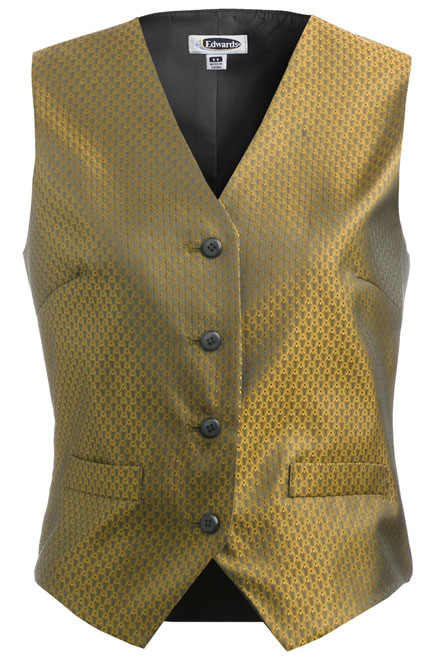 Edwards Diamond Brocade Vest - Womens