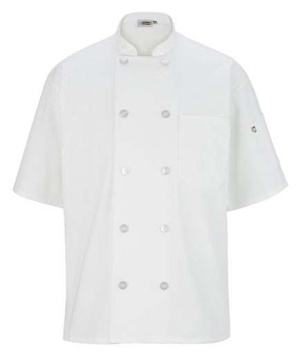 Edwards Short Sleeve Chef Coat 10 Button