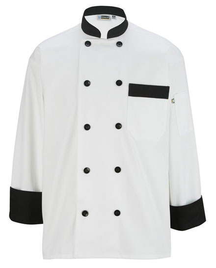 Edwards Chef Coat Ten Button Black