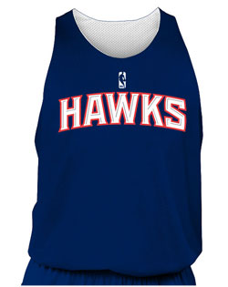 NBA Team Hawks Adult Reversible Basketball Jersey