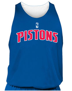 NBA Team Pistons Adult Reversible Basketball Jersey