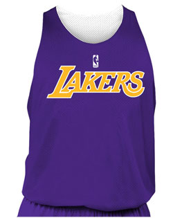 NBA Team Lakers Youth Reversible Basketball Jersey