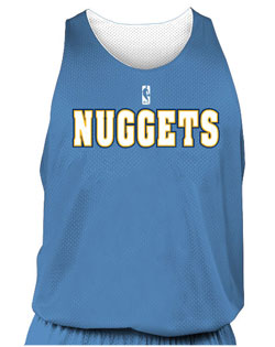 NBA Team Nuggets Adult Reversible Basketball Jersey