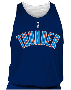 NBA Team Thunder Adult Reversible Basketball Jersey