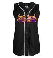 Teamwork 1274 Tag Up Full Button Sleeveless Softball Jersey - Womens