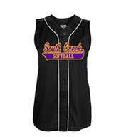 Teamwork Softball Jersey 1284 Tag Up Full Button Sleeveless Girls