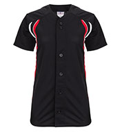 Teamwork Athletic Softball Jerseys 1289 Changeup Full Button Girls