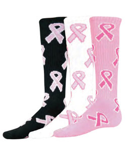 Pink Ribbon Game Socks - Youth