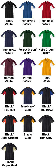 Custom Mens Side Blocked Micropique Sport-Wick® Coaches Polo Shirt - All Colors