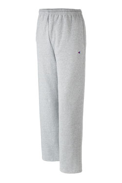Champion Pant Double Dry Fleece Open Bottom Adult Mens