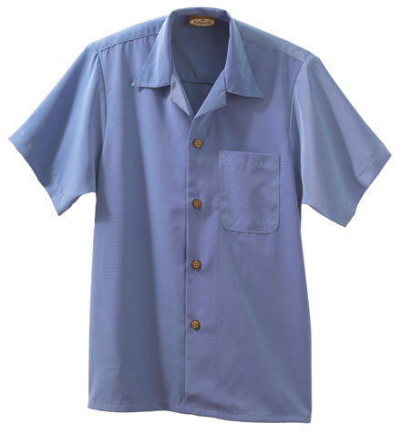 Edwards Camp Shirt South Seas Solid
