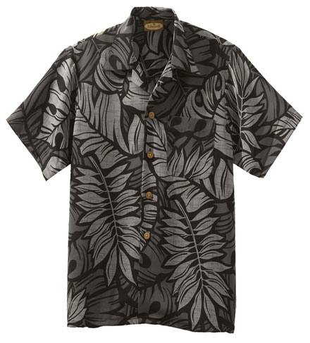 Edwards Camp Shirts South Seas Leaf Print