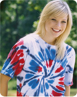Tshirt Patriotic Cut Spiral Tie Dye Adult
