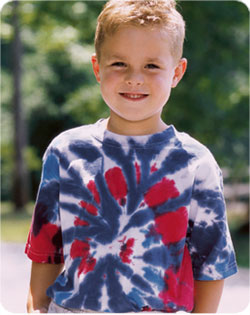 Gildan Patriotic Cut Spiral Tie Dye Tshirt - Youth