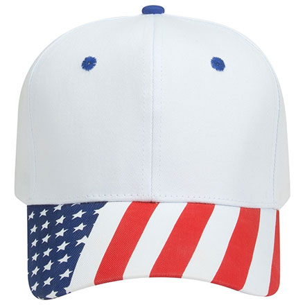 Cap Traditional Look Structured Firm Front American Flag