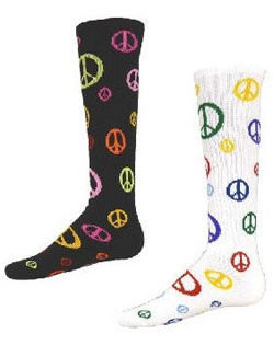 Socks Give Peace A Chance Multi Sport, Multi Color Intermediate