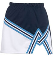 Adult 2 Color A-Line Cheer Skirt With Trim